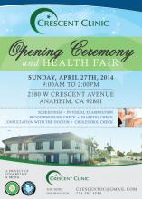 Grand Opening of Crescent Clinic and and Health Fair